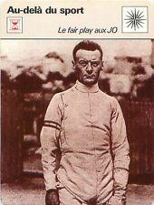 FICHE CARD Fair Play au JO 1928 Lucien Gaudin Escrime Fencing fleuret épée 70s