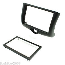 CT24TY35 TOYOTA YARIS 1999 to 2003 BLACK DOUBLE DIN FASCIA ADAPTER PANEL