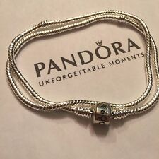 NEW! AUTHENTIC PANDORA CHARM BARREL CLASP NECKLACE 590703HV-50 (42CM)