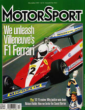 Motor Sport Dec 1997 - Ferrari 312T3, Phil Hill, F1 last minute mistakes, XJRS