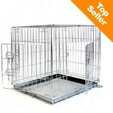 Dog Cage House Car Crate Double Door safe during transport safe at home Medium