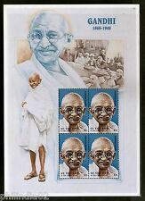 "St. Vincent 1998 Mahatma Gandhi of India ""SPECIMEN"" Sheetlet of 4 MNH # 9665"
