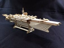 Laser Cut Wooden Aircraft Carrier 3D Model/Puzzle Kit