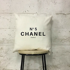 Cream and Black Quote Inspiration Cushion Pillow Chanel Cotton Luxury Fashion