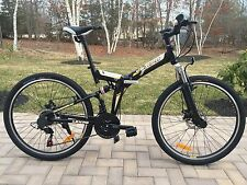 26 Alloy Mountain Folding Bike With Shimano 21 Speed And Disc Brakes