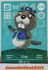 Chip nº 116-SP especial-amiibo walker Animal Crossing serie 2