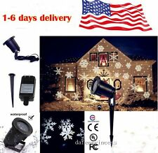 Star Light SNOWFLAKES Shower Laser LED Motion Projector Outdoor Valentine's Day