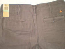 GENUINE DOCKERS CHINOS D2 STRAIGHT FIT LIVED & WORN KHAKI PANTS/TROUSERS *GOLF*
