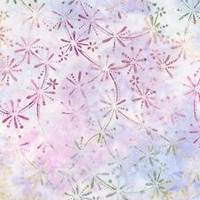 Kaufman Batik 16133 232 Wineberry Floral Bursts On Lavender By The Yard
