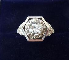 Stunning 18ct white gold art deco 1.25ct diamond solitaire engagement 18k ring