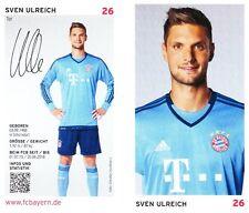 Sven Ulreich (26) + FC Bayern München + Saison 2015/2016 + Autogrammkarte +