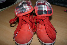 BOYS SHOES - LOVELY PAIR OF FOLD DOWN TRAINERS WITH TOE CAPS & NOVELTY BUCKLE.