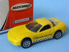 Matchbox 1997 Chevy Corvette with Yellow Body Racing Boxed