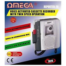 Omega Reporter-20 Voice Activated Cassette Recorder Dictaphone With Mic Speaker