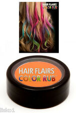 Hair Flairs Color Rub, Temporary Vibrant Fun Hair Colors   .14 oz. (orange) LMS