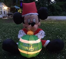 Mickey Mouse Inflatable Gemmy Disney Holiday Yard Decor Christmas 42inch VIDEO