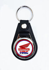 HONDA RACING FAUX LEATHER KEY RING / KEY FOB. HONDA MOTORCYCLES.HONDA RACING.rou