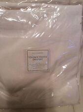 Restoration Hardware One (1) Vintage Velvet Drape 50x108 Natural White New