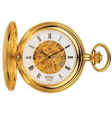 Royal London 1/2 Hunter Meccanico Scheletro Dial Orologio da taschino 90009-01