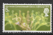 GB: 1970 British Commonwealth Games 5d SG832 - shows running figures