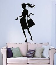 Wall Stickers Vinyl Decal Hot Sexy Girl Woman Lady Fashion Shopping (ig196)