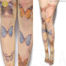 BUTTERFLIES PRINTED OPAQUE TIGHTS 80D Women Cute Fashion Insect Print Pantyhose