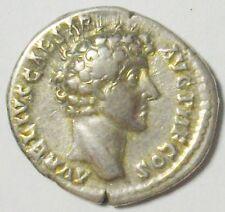 R-N Denar des Marcus Aurelius als Caesar / priesterliche Geräte, Denarius #E128