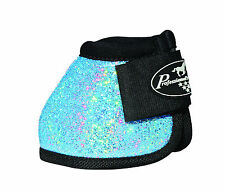 Turquoise GLITTER Large Professionals Choice Horse Over-Reach Bell Boots