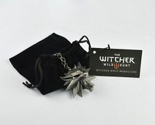 Witcher 3 Wild Hunt Wolf head High Quality Man Pendant New Medallion Chain