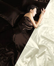 6PC SATIN COMPLETE DUVET COVER & BED SHEET SET