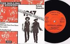"THE ROLLING STONES - 1967 UNRELEASED MATERIAL - RARE 7"" 45 EP RECORD w WARP SLV"