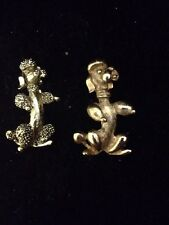 Poodle Dog  Brooch Pin Lot Of 2 Both Signed 1 Is Gerry's 1 Is Sarah Cov