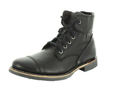 Caterpillar NEW Men's Black Leather Quinton Combat Lace Up Dress Short Boots (8)