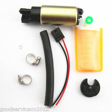 Electric Fuel Pump & Full Install Kit (Oil Tube+Hose Clamps+Strainer+Rubber Cap)