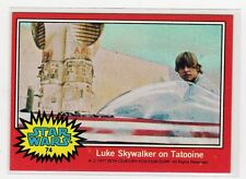 1977 Star Wars Series 2 red Single Card #74 NM straight from a wax Pack