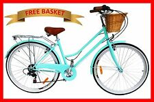 BRAND NEW VINTAGE RETRO LADIES BEACH CRUISER BICYCLE / BIKE 6 SPEED MINT GREEN