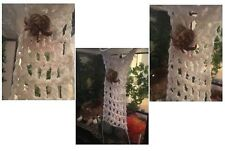 """Hermit Crab Climbing Net Extra Ladder Hammock or Wall 9x4"""" 100% Cotton (Natural)"""