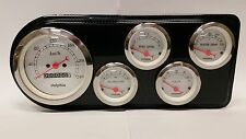 1948 1949 1950 FORD TRUCK 5 GAUGE CLUSTER WHITE METRIC