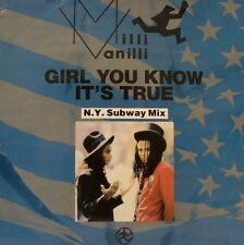 "Maxi 12"" Milli Vanilli Girl, You Know It`s True (N.Y.C. Subway Mix) / Magic"