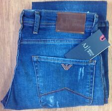Men's Armani Jeans ( blue) AJ20 slim fit distressed waist 33 Length 34