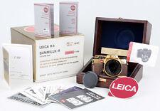 Leica R4 GOLD + Summilux-R 1,4/50 KOMPLETT Papiere, Holzetui, Karton CONDITION A