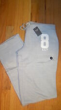 NWT Abercrombie & Fitch Women Skinny Sweatpants Logo Pants M Medium Light Grey