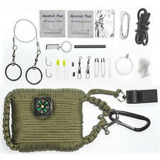Self Help Outdoor Camping Hiking Emergency Survival Gear Tools Box Kit Set 24pcs