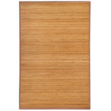 Brown Bamboo Rug Area Mat Bamboo Wood Carpet Natural 4'x 6' Easy to Clean