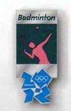 OLYMPICS LONDON 2012 BADMINTON PICTOGRAM COLLECTOR PIN