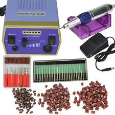 Professional Electric Nail Art Drill Manicure Machine Salon Glazing Kit Set Blue