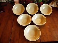 """6 NEW OTHER(old stock) SOUP OR CEREAL BOWLS STONEWARE MADE IN JAPAN 6.5""""R X 2""""H"""