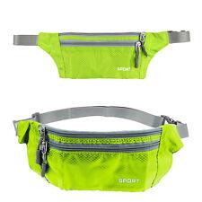 Sports Bum Bag Festival Waist Belt Pouch Travel Sport Holiday Money Wallet Green