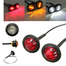 4pcs 12V Round Side Marker Light 3 LED Indicator Lamp Car Truck Trailer Caravan