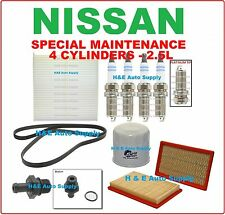 TUNE UP KITS FOR 02-06 NISSAN ALTIMA & SENTRA 2.5L: SPARK PLUGS, BELT & FILTERS
